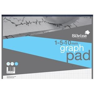 silvine a3 90gsm 1mm 5mm 10mm grid student graph pad 30 sheets