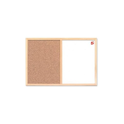 5 Star Office 600 Cork and Drywipe Combination Noticeboard