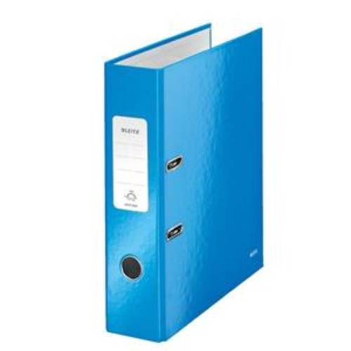 Leitz WOW (A4) Laminated Lever Arch File 80mm Spine 600 Sheet 80 g m2 (Blue) 1 x Pack of 10 Files