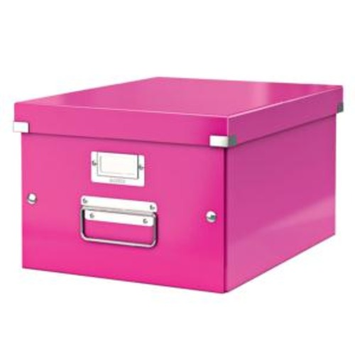 Leitz Click And Store Collapsible (A4) Medium Storage Box (Pink)