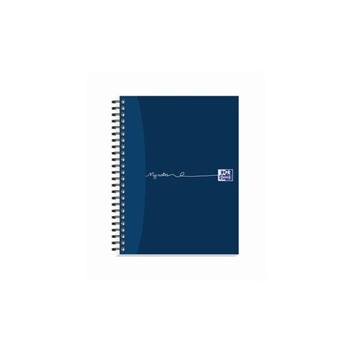 Oxford My-Notes (A5+) Notebook Wirebound 160 Pages 90g m2 Punched 2-Holes Perforated Ruled Margin Card Cover Blue (Pack 5)