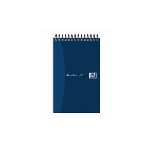 Oxford My-Notes (125mm x 200mm) Notebook Wirebound 300 Pages 70g m2 Ruled Perforated Card Cover Blue (Pack 5)