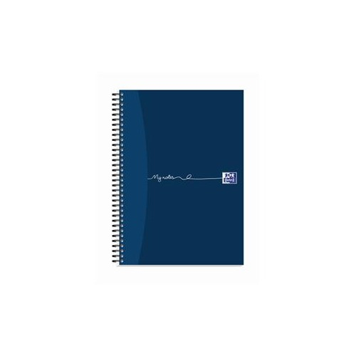 Oxford My-Notes (A4) Notebook Wirebound 100 Pages 70g m2 Punched 4-Holes Perforated Ruled Margin Card Cover Blue (Pack 5)
