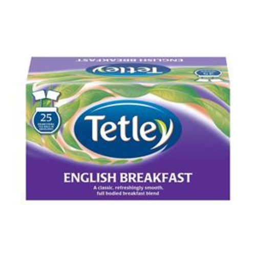 Tetley English Breakfast Drawstring Tea Bags in Envelope (Pack of 25)
