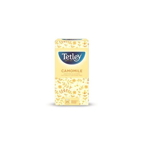 Tetley Camomile Smile Tea Bags Individually Wrapped (Pack of 25)